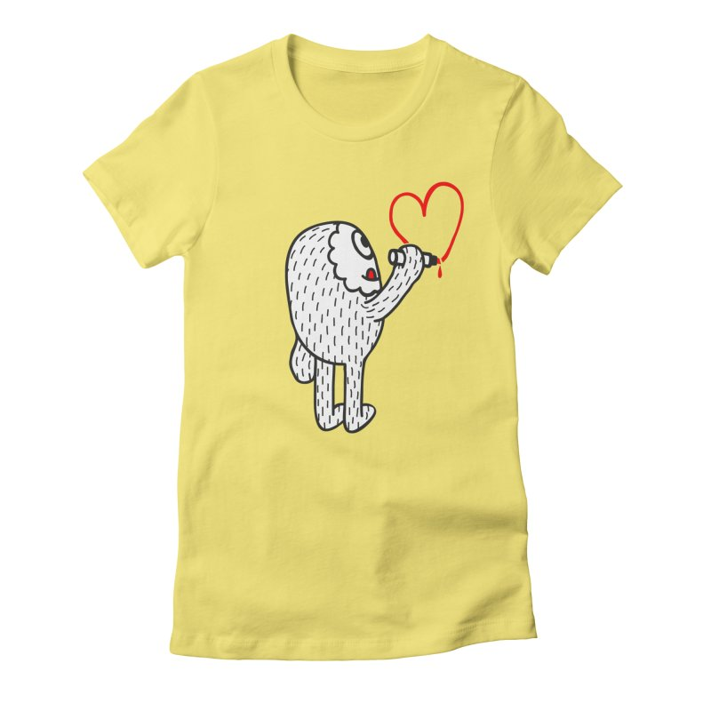 Spread Love Women's Fitted T-Shirt by timrobot's Artist Shop