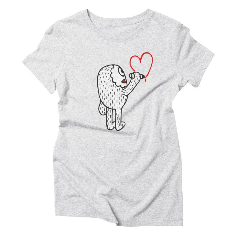 Spread Love Women's Triblend T-shirt by timrobot's Artist Shop