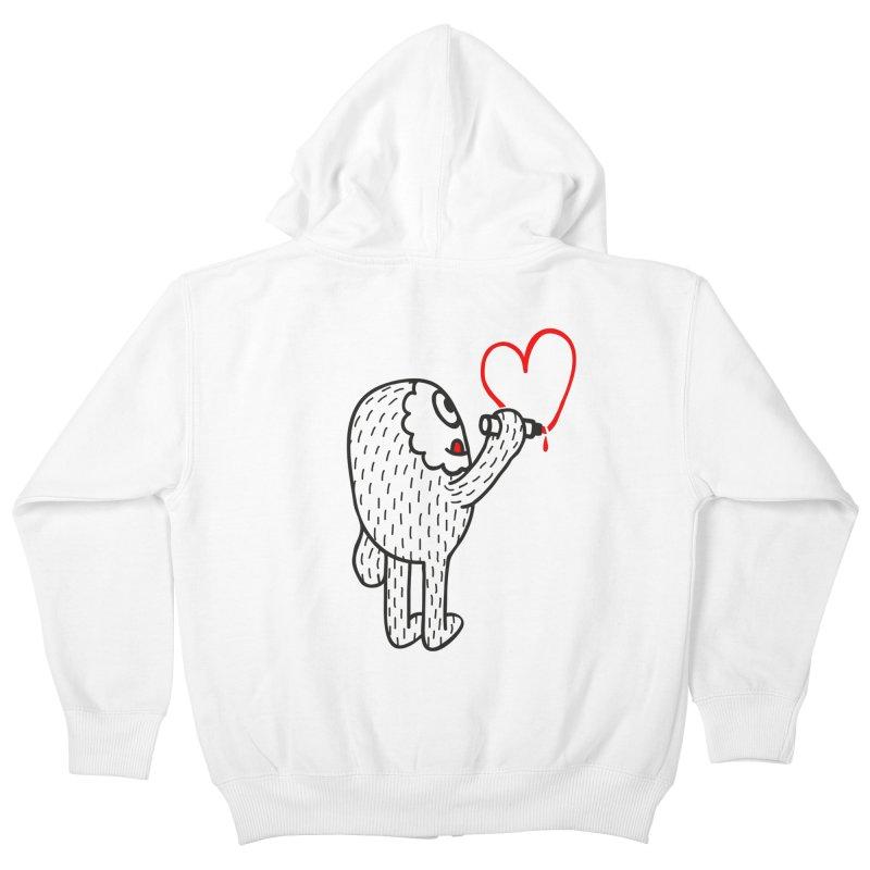 Spread Love Kids Zip-Up Hoody by timrobot's Artist Shop