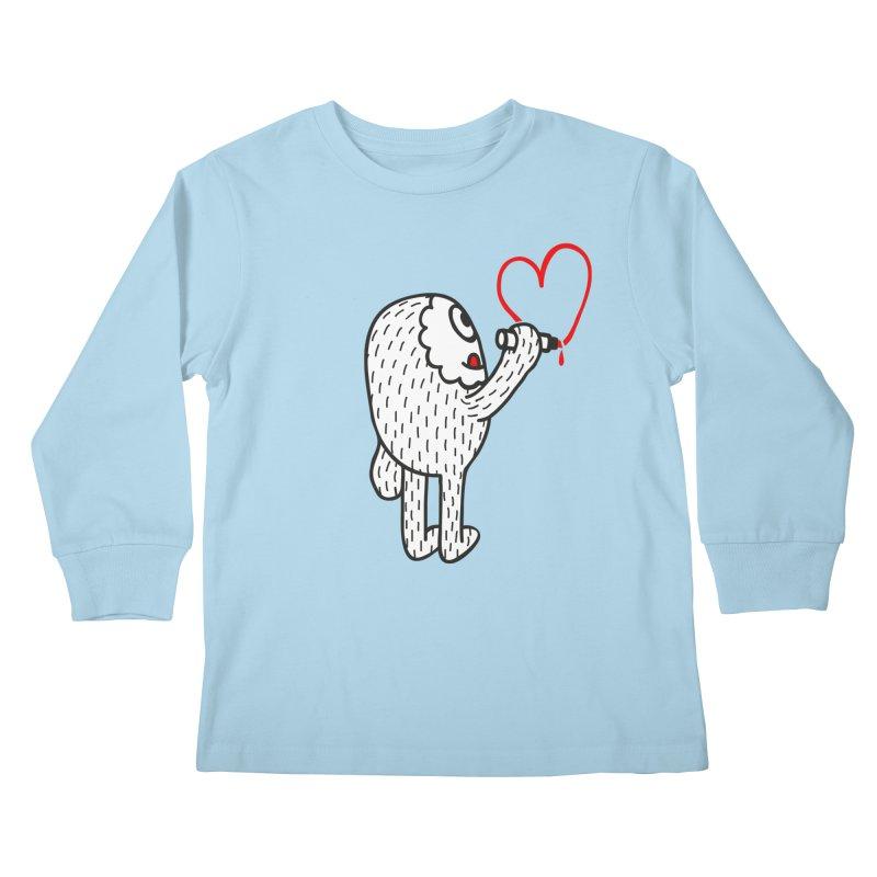 Spread Love Kids Longsleeve T-Shirt by timrobot's Artist Shop