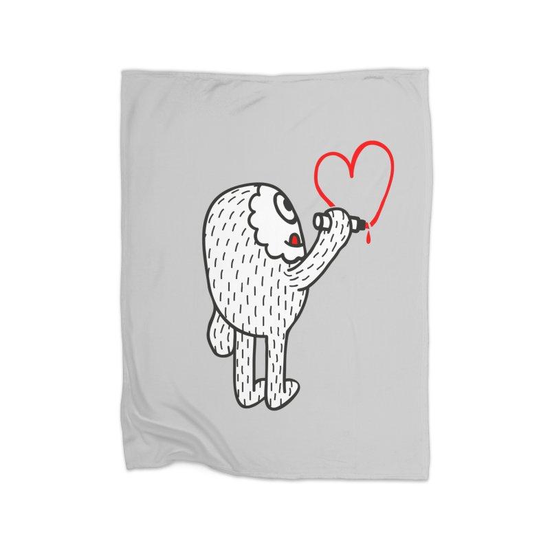 Spread Love Home Blanket by timrobot's Artist Shop