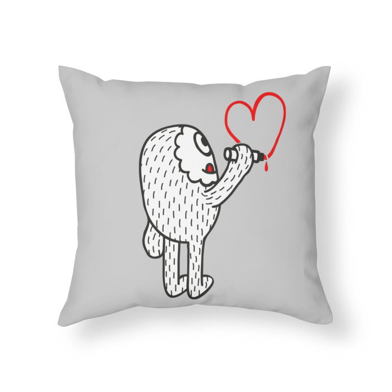 Spread Love Home Throw Pillow by timrobot's Artist Shop