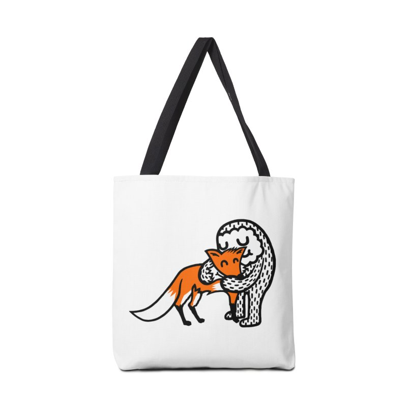 Fox Hug Accessories Bag by timrobot's Artist Shop