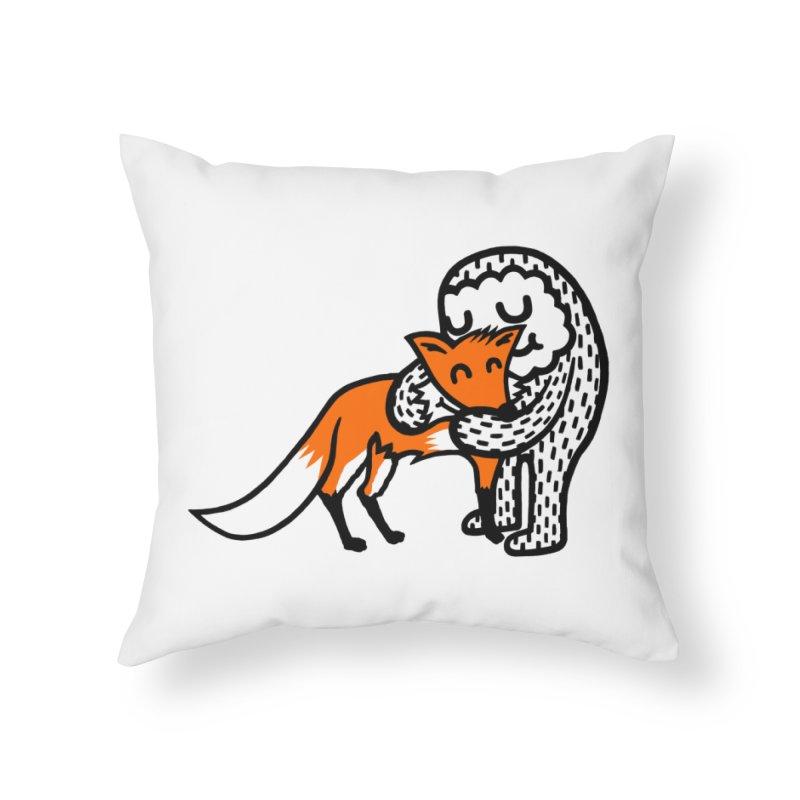 Fox Hug Home Throw Pillow by timrobot's Artist Shop