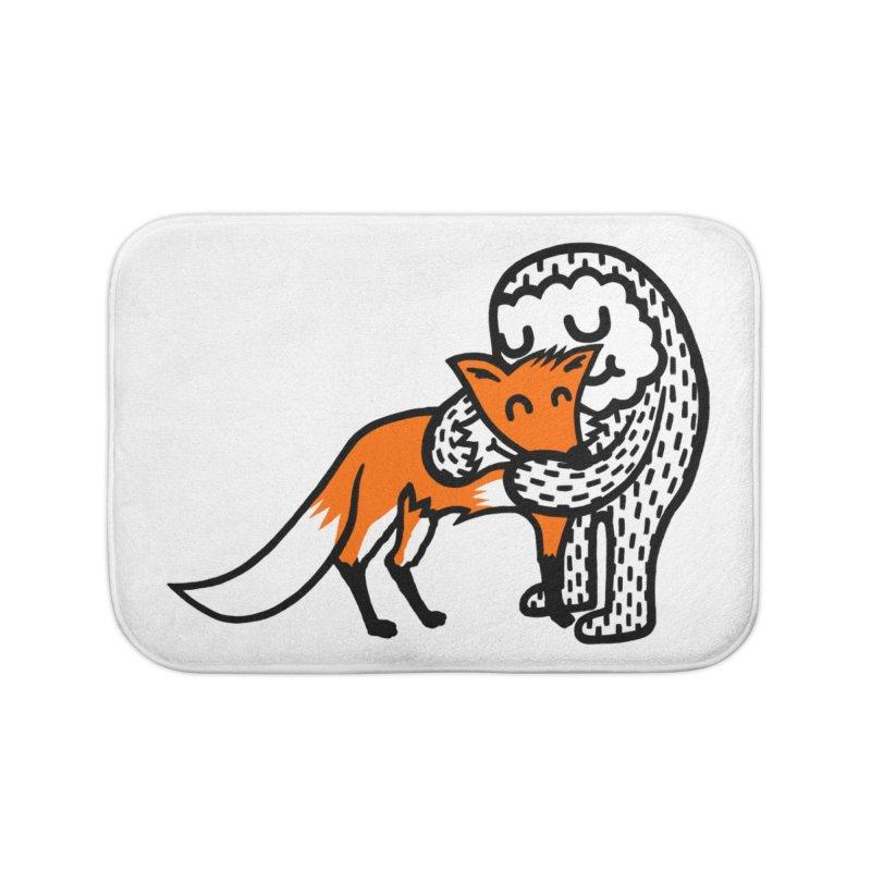 Fox Hug Home Bath Mat by timrobot's Artist Shop