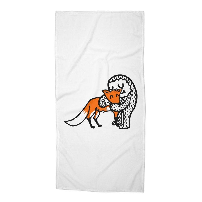 Fox Hug Accessories Beach Towel by timrobot's Artist Shop