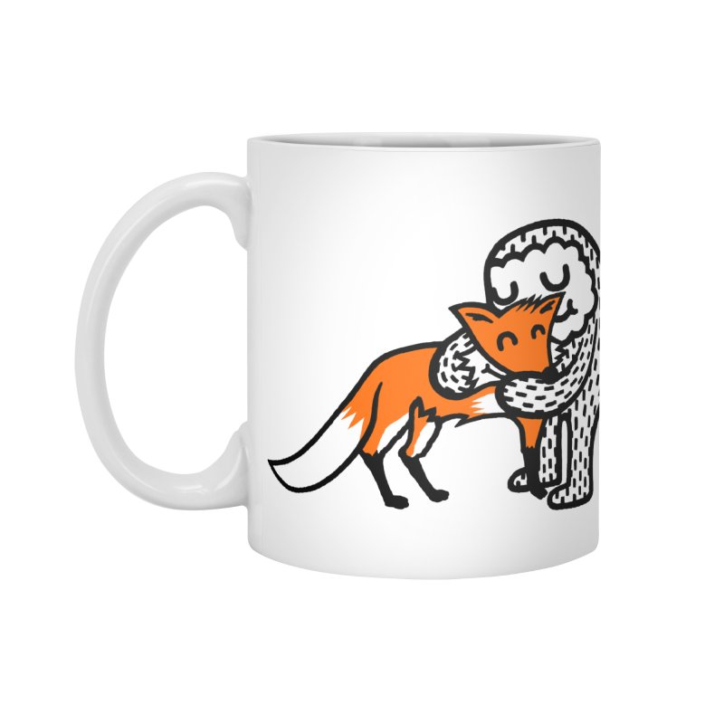 Fox Hug Accessories Mug by timrobot's Artist Shop