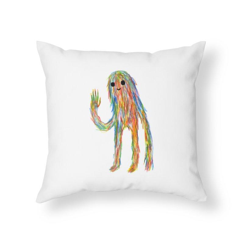 Hi Home Throw Pillow by timrobot's Artist Shop