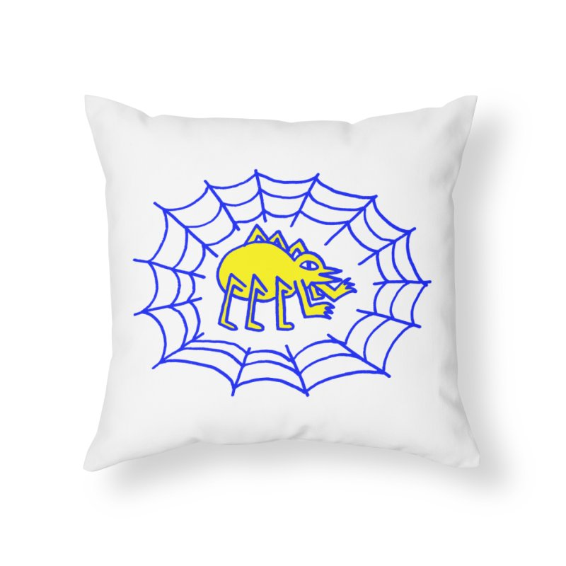 Spider Home Throw Pillow by timrobot's Artist Shop