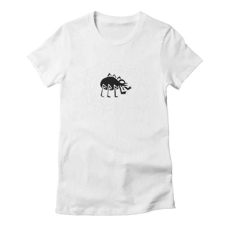 Spider Women's Fitted T-Shirt by timrobot's Artist Shop