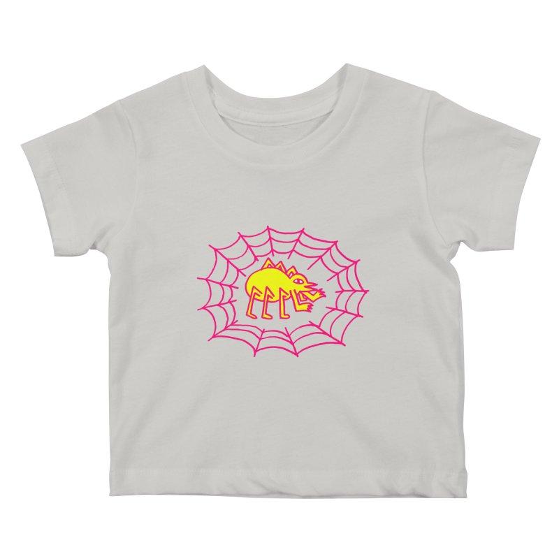 Neon Spider Kids Baby T-Shirt by timrobot's Artist Shop