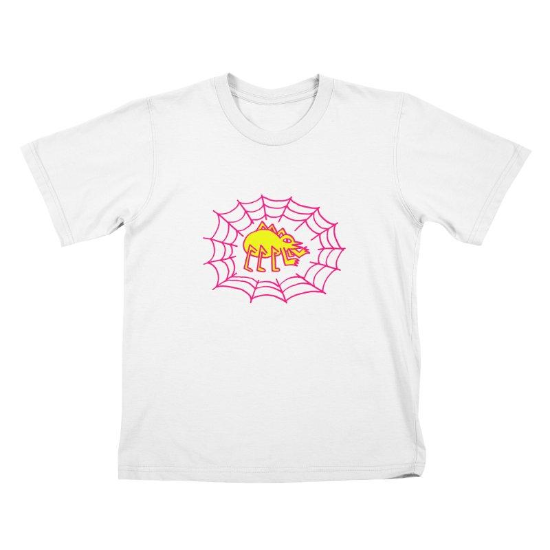 Neon Spider Kids T-Shirt by timrobot's Artist Shop