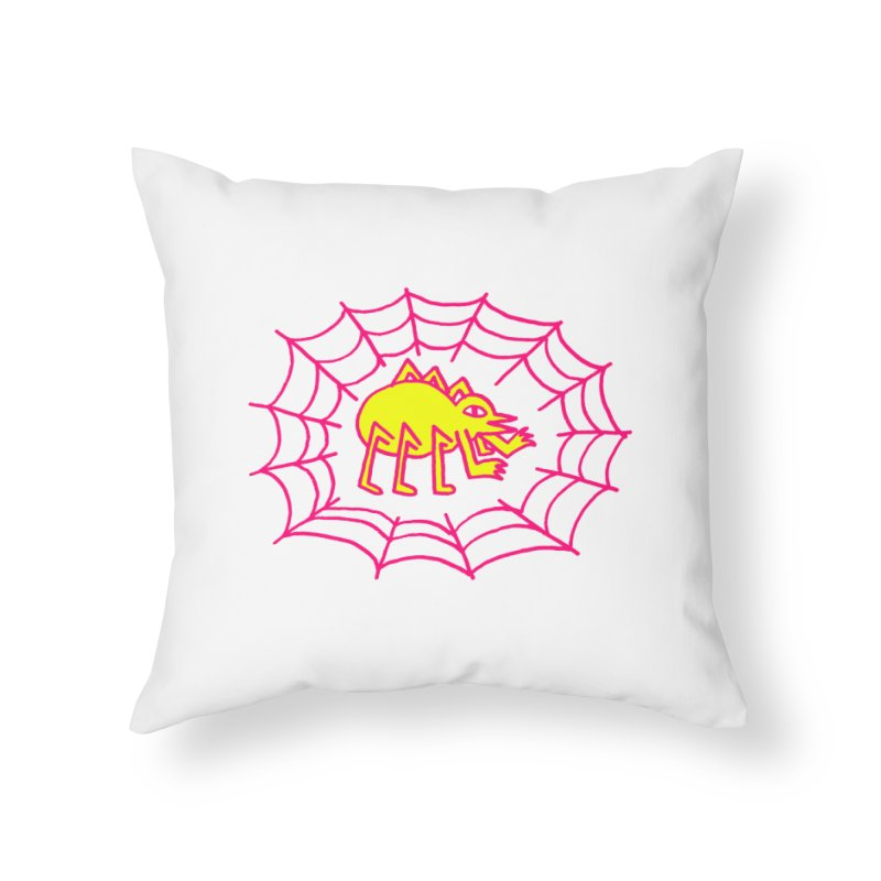 Neon Spider Home Throw Pillow by timrobot's Artist Shop