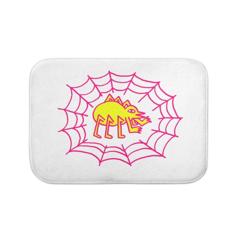 Neon Spider Home Bath Mat by timrobot's Artist Shop