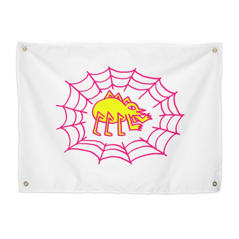 Neon Spider Home Tapestry by timrobot's Artist Shop