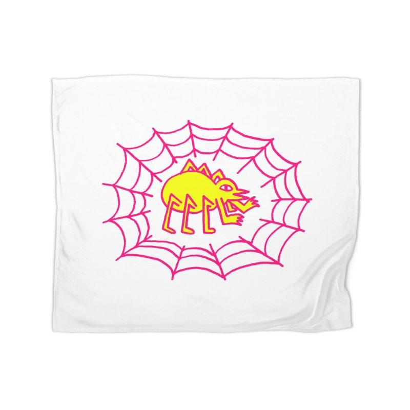 Neon Spider Home Blanket by timrobot's Artist Shop