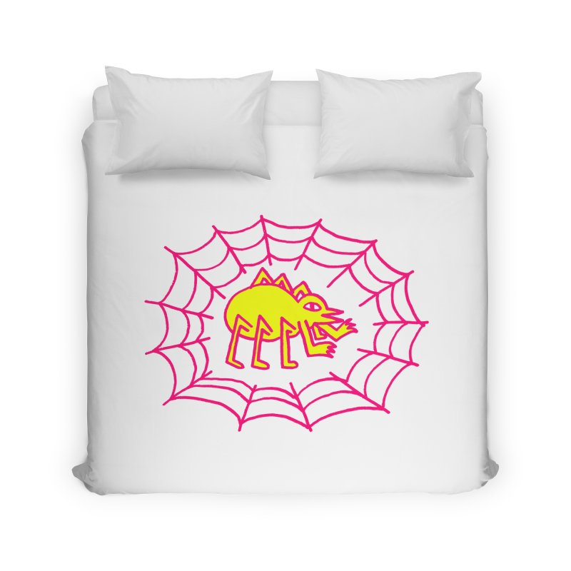 Neon Spider Home Duvet by timrobot's Artist Shop
