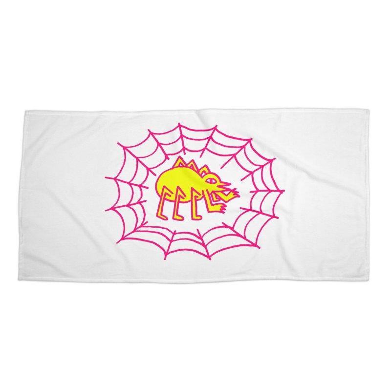 Neon Spider Accessories Beach Towel by timrobot's Artist Shop