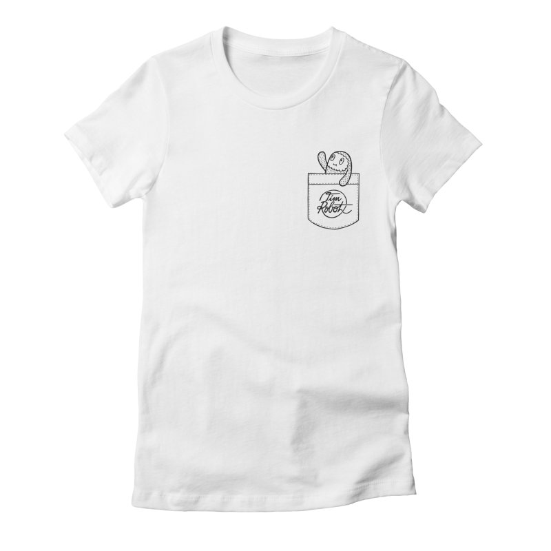 Pocket Friend Women's Fitted T-Shirt by timrobot's Artist Shop
