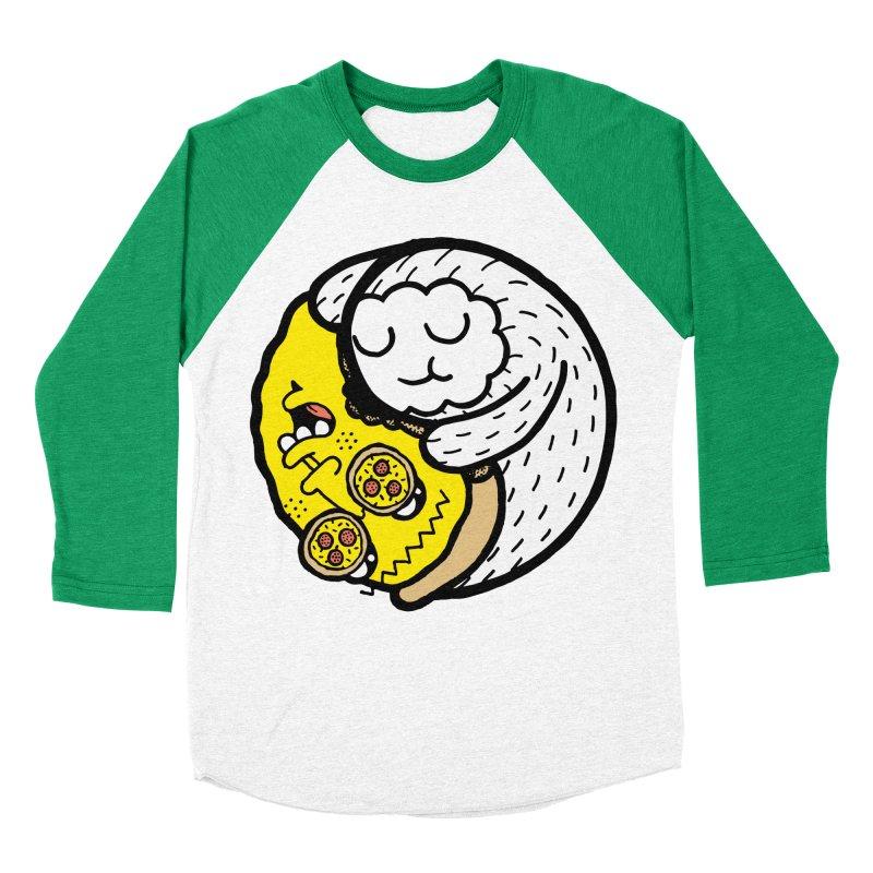 Eat More Friends Men's Baseball Triblend T-Shirt by timrobot's Artist Shop