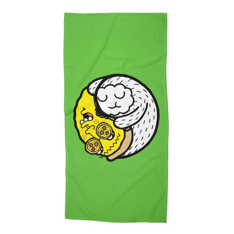 Eat More Friends Accessories Beach Towel by timrobot's Artist Shop