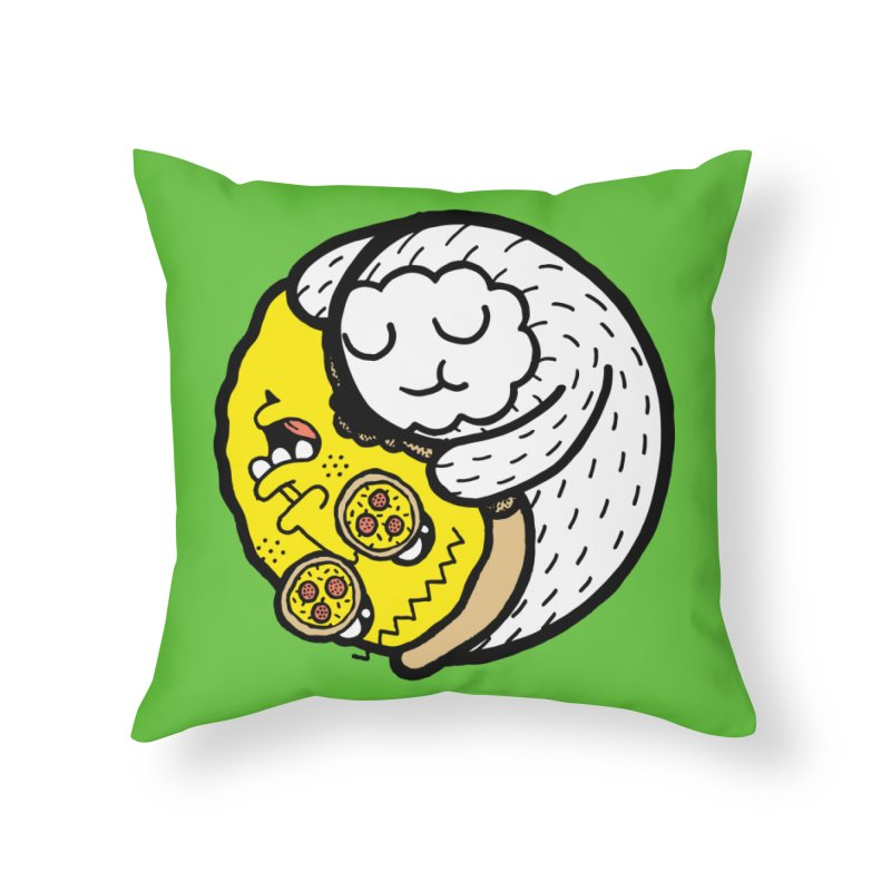 Eat More Friends Home Throw Pillow by timrobot's Artist Shop