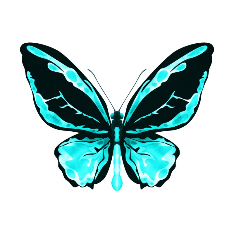 Neon Butterfly None  by Timxez