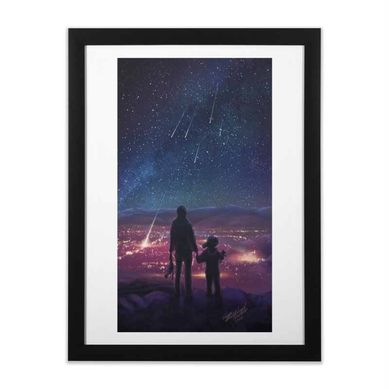 Wish Upon a Star Home Framed Fine Art Print by TinaNewtonArt