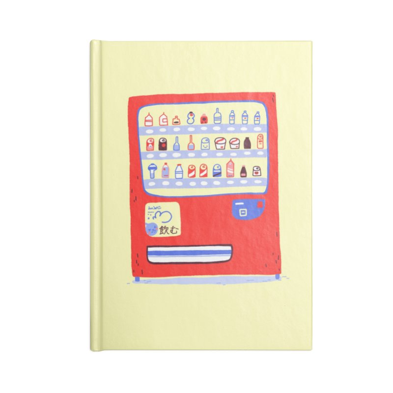 Japanese vending machine Accessories Lined Journal Notebook by Tina Tamay