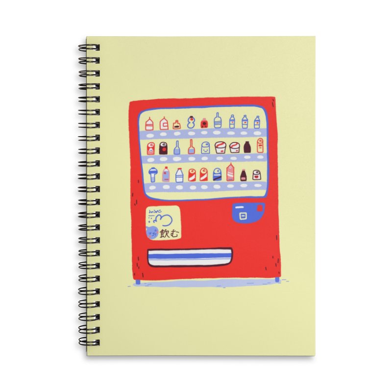 Japanese vending machine Accessories Lined Spiral Notebook by Tina Tamay
