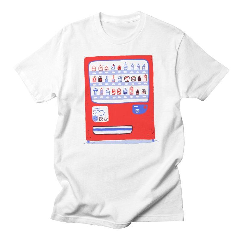 Japanese vending machine in Men's Regular T-Shirt White by Tina Tamay