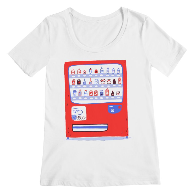 Japanese vending machine Women's Regular Scoop Neck by Tina Tamay