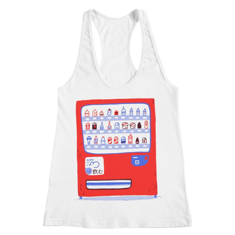 Japanese vending machine Women's Racerback Tank by Tina Tamay