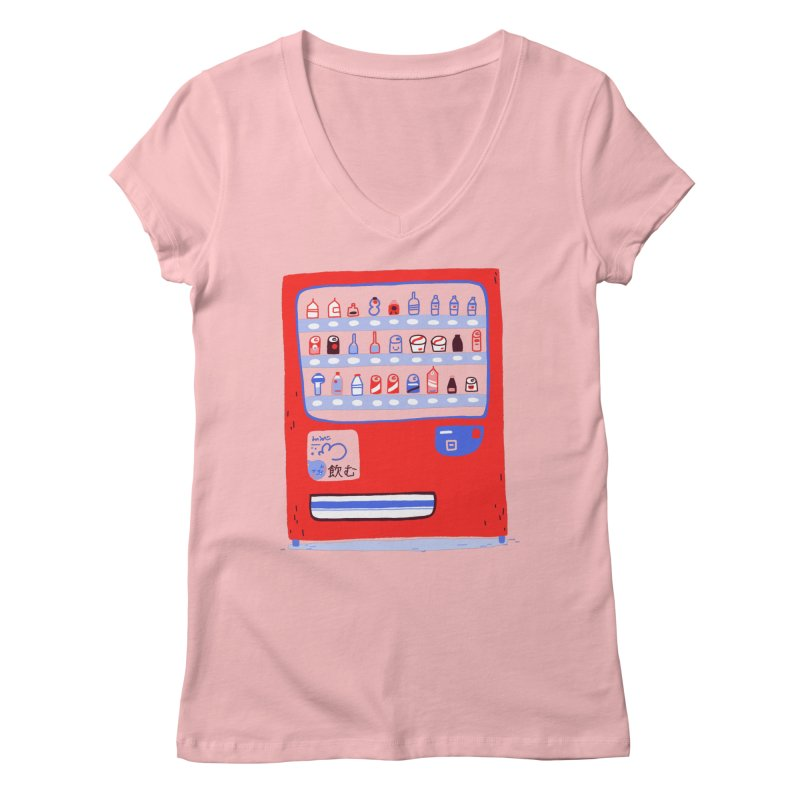 Japanese vending machine Women's V-Neck by Tina Tamay