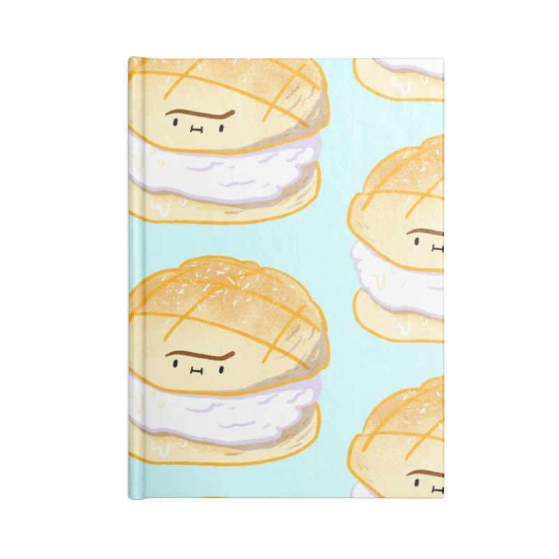 Meronpan vanilla ice cream Accessories Lined Journal Notebook by Tina Tamay
