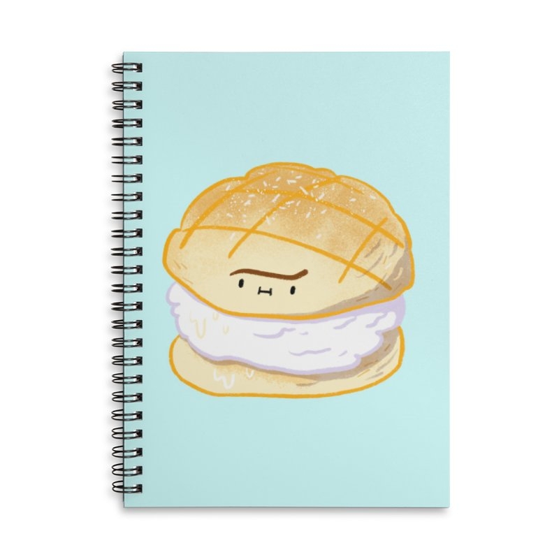 Meronpan vanilla ice cream Accessories Lined Spiral Notebook by Tina Tamay