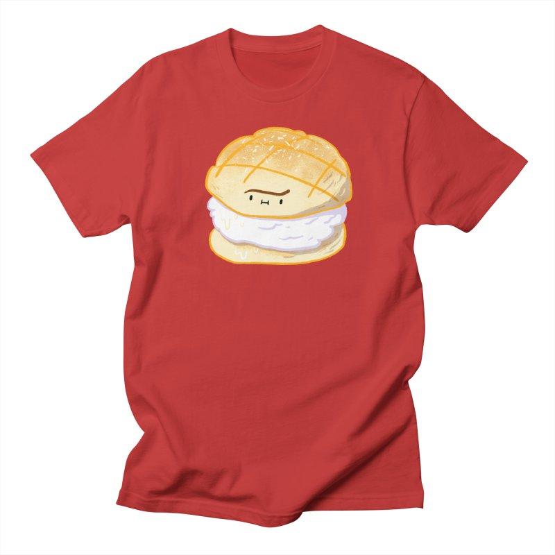 Meronpan vanilla ice cream in Women's Regular Unisex T-Shirt Red by Tina Tamay