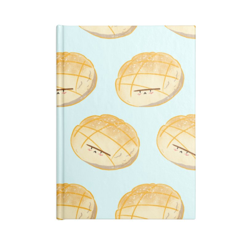 Cute meronpan Accessories Lined Journal Notebook by Tina Tamay