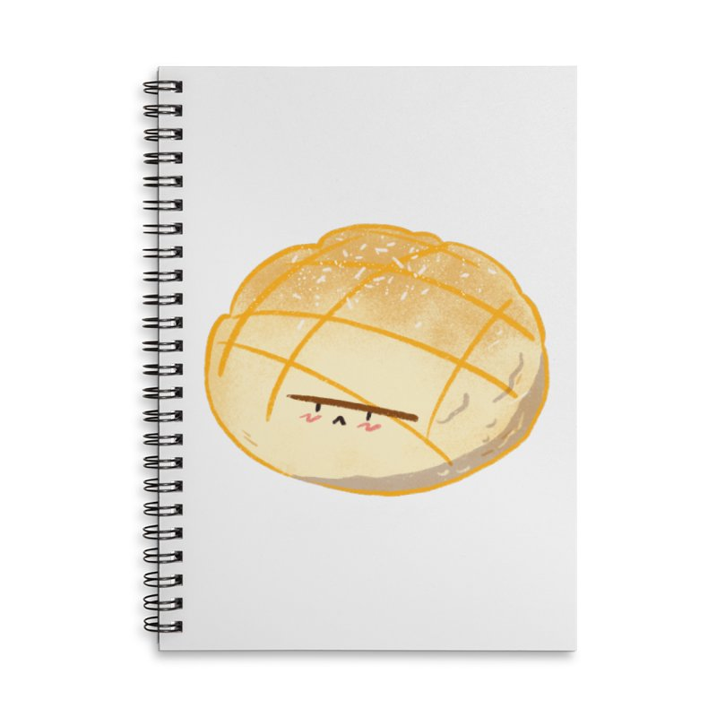 Cute meronpan Accessories Lined Spiral Notebook by Tina Tamay