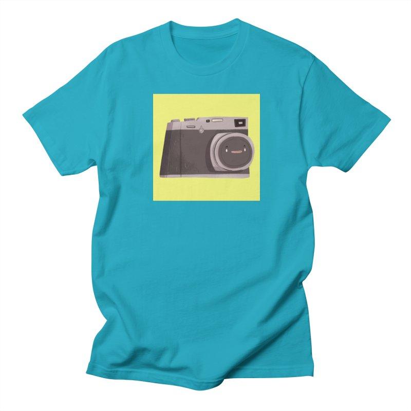 Travel companion in Women's Regular Unisex T-Shirt Cyan by Tina Tamay