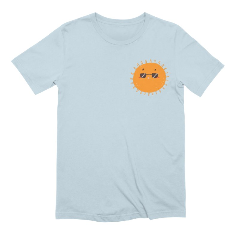 Holidays Mode [pocket size] in Men's Extra Soft T-Shirt Baby Blue by Tina Tamay
