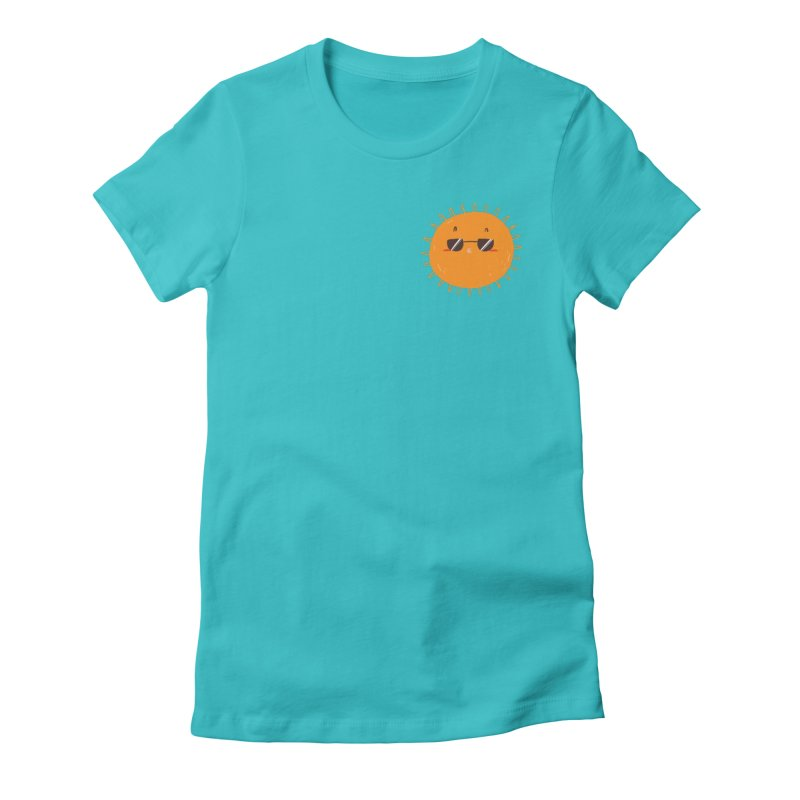 Holidays Mode [pocket size] Women's Fitted T-Shirt by Tina Tamay
