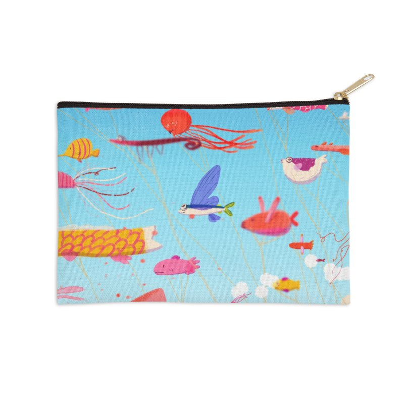 Meet in Koinobori in Zip Pouch by Tina Tamay
