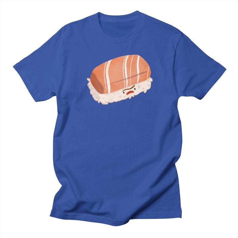 Mad nigiri in Women's Regular Unisex T-Shirt Royal Blue by Tina Tamay