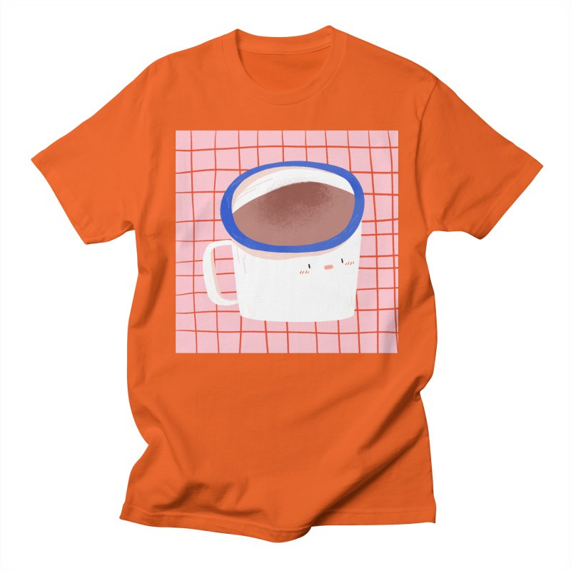 Hot Choc in Men's Regular T-Shirt Orange Poppy by Tina Tamay