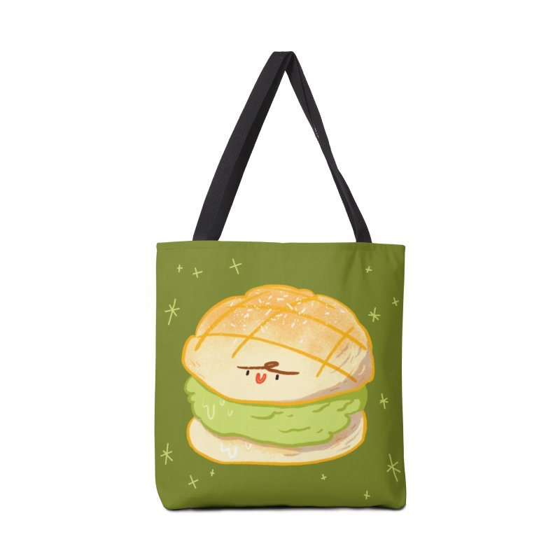 Meronpan matcha ice cream Accessories Tote Bag Bag by Tina Tamay