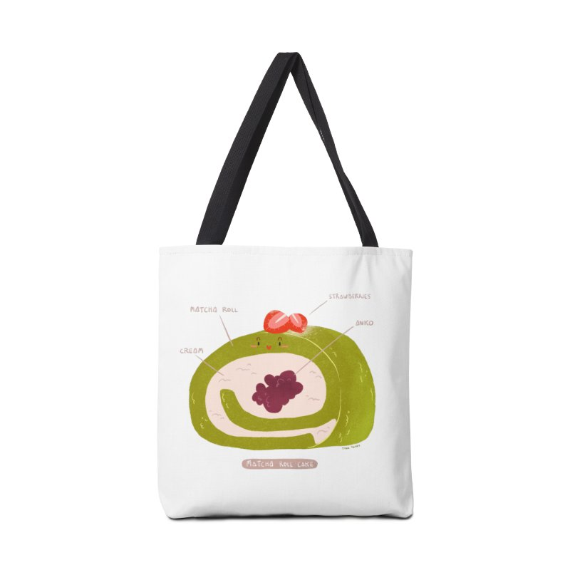 Matcha Roll Accessories Tote Bag Bag by Tina Tamay
