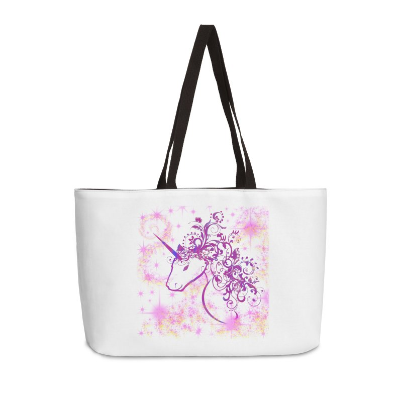 Sparkle Unicorn  Accessories Bag by tinymystic's Artist Shop