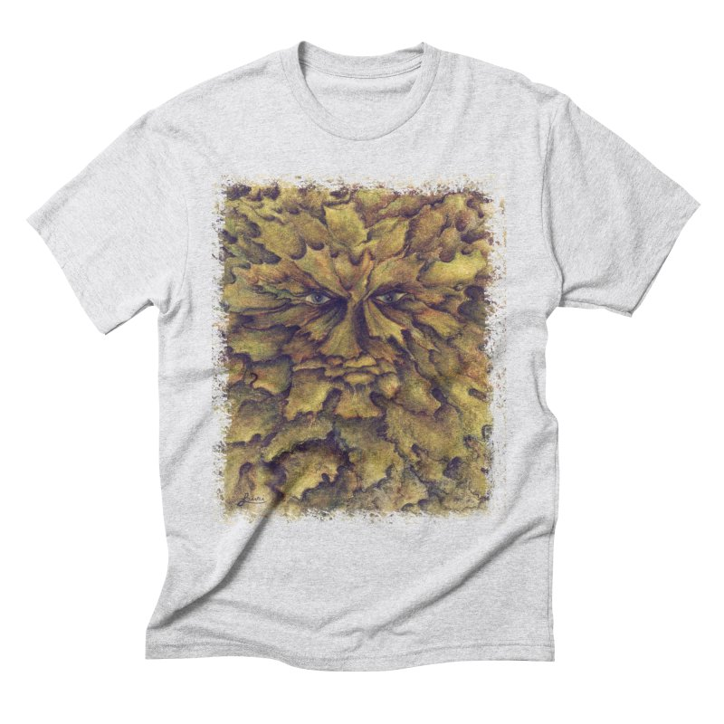 Greenman  Men's T-Shirt by tinymystic's Artist Shop