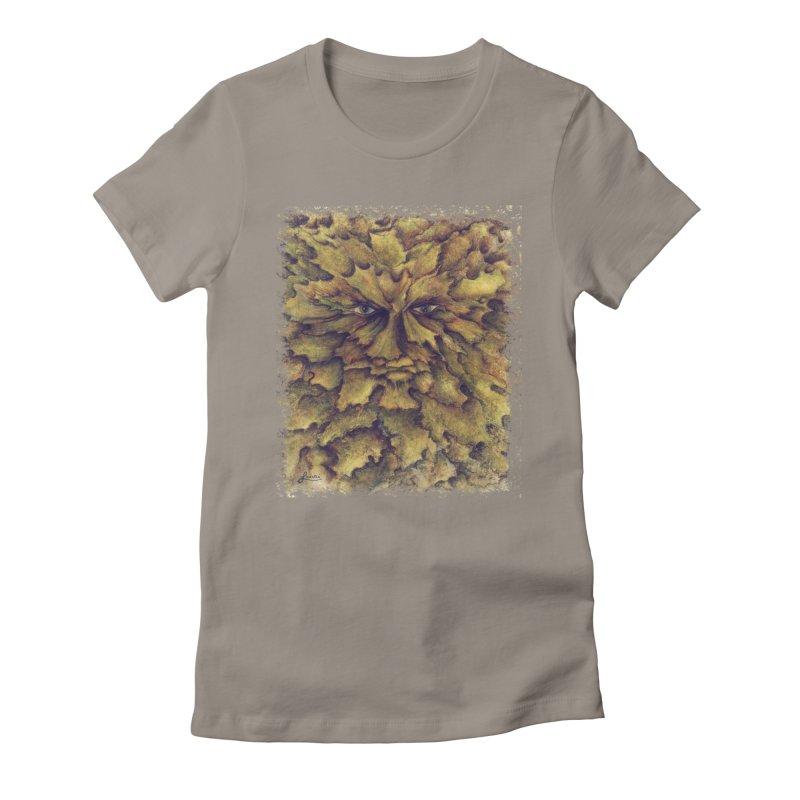 Greenman  Women's T-Shirt by tinymystic's Artist Shop